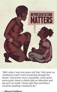 Whoopi Goldberg explains how Star Trek's: Uhura impacted her. Fan then explains how Whoopi's role on Star Trek impacted him Comics Illustration, Illustrations, By Any Means Necessary, Star Wars, Intersectional Feminism, We Are The World, Photoshop, Patriarchy, Faith In Humanity