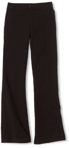 Danskin Little Girls' Shir Bootleg Pant, Black, Toddler (2T-4). Great for dance and yoga. Shirred waist detail. Comfortable cotton-spandex blend. 26 inch inseam (in medium).