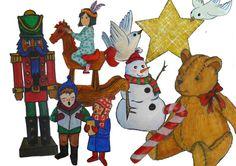 Adornos de Navidad imprimibles. Motivos navideños. por Vientoafavor