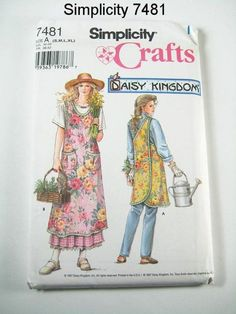 Misses' Daisy Kingdom Tieless Cross Back Apron by ThePatternSource