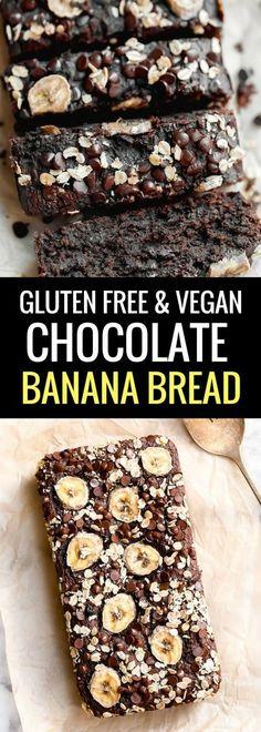Chocolate Banana Bread #vegan #glutenfree