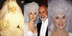 Celine Dion on her wedding day to Rene Angelil. Photos / Getty Images