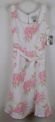 Adrianna Papell Petites Floral Sleeveless Linen Blend Sundress Women Size 4P NWT #AdriannaPapell #Sundress #Casual