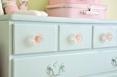 Duck egg blue shabby chic like replacement handles