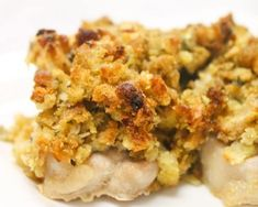 Baked Pork Chops and Stuffing. This is basically how I make it only I brush a few tablespoons of dijon mustard on the chops before I cover them with stuffing. Oven Pork Chops, Easy Baked Pork Chops, Boneless Pork Chops, Pork Chops With Stuffing, Stuffed Pork Chops, Oven Steak, Pork Loin, Pork Roast, Stuffing Casserole