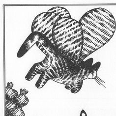 Cats as Butterflies by B. Kliban, Vintage Art Print - Cat Wall Decor, Gift Idea, Supply for Projects by CraftersAgedPrints on Etsy