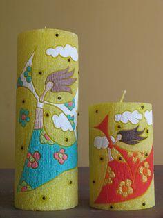 Bougie verte bougie parfumée artisanat maison décor par GiftForFire