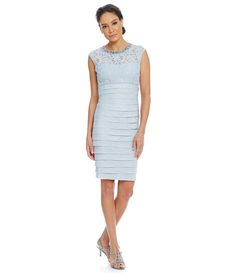 Shop for London Times Beaded-Neck Shutter-Pleat Cap Sleeve Sheath Dress at Dillards.com. Visit Dillards.com to find clothing, accessories, shoes, cosmetics & more. The Style of Your Life.