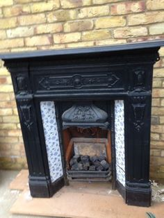 cool antique fireplace