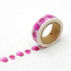 cup cakes washi tape - pink tape - party supplies - card making - Love My Tapes by LoveMyTapes on Etsy https://www.etsy.com/listing/228167028/cup-cakes-washi-tape-pink-tape-party