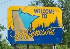 3........Welcome To Minnesota Sign