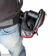 Dörr NoLimit Hüfttasche für 1 spiegellose Systemkamera mit Objektiv und Zubehör (schwarz/grau) kaufen im Enjoyyourcamera.com Shop