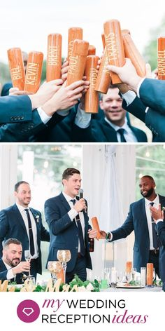 What an awesome way to toast the new Mr. Personalized baseball bat beer mugs will look awesome on the head wedding table and in your groomsmen's hands on your wedding day. Head Table Wedding, Wedding Reception, Toast Ideas, Wedding Toasts, Beer Mugs, Groomsman Gifts, On Your Wedding Day, Groomsmen, Hands