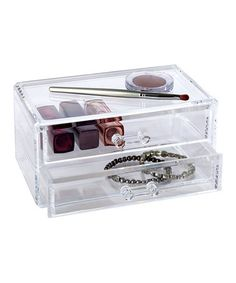 Take a look at this Clear Two-Drawer Organizer by Richards Homewares on #zulily today!