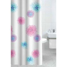 Ink Blossom Shower curtain #bathroom #laundry