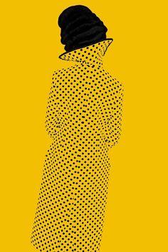 Erik Madigan Heck for New York Magazine #dots #polkadots #yellow