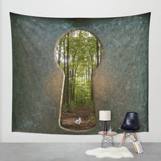 Alice in Wonderland Follow Me Wall Tapestry by AndreaClare | Society6
