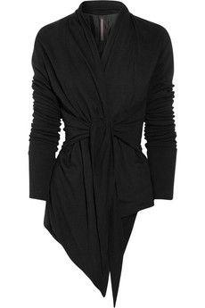 Rick Owens Lilies-Belted jersey jacket