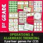 Operations & Algebraic Thinking Games for Grades 1-5 + FREE Word Problem Game
