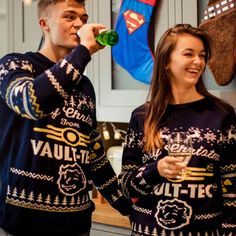 Official Fallout 4 Vault Tec Christmas Jumper / Ugly Sweater | Free UK Delivery | Yellow Bulldog