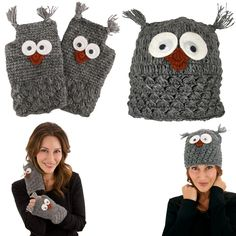Look smart with the toasty warmth of this wool hat and hand warmers packed with personality. Hand-knit by artisans in Nepal and lined in cozy fleece, our googly-eyed owl accessories present wisdom beyond their years.