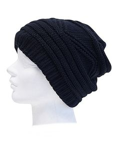 Loving this Downtown Style Black Convertible Beanie on #zulily! #zulilyfinds