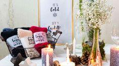 DIY-Gastgeschenk: Kuschlige Anti-Rutsch Socken für den Winter Cold, Decor, Host Gifts, Wedding Bride, Recipes, Decoration, Decorating, Deco, Embellishments