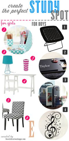 Create the perfect study spot | curated by thecelebrationshoppe.com #backtoschool #studyspaces
