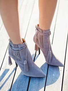 We touched on how fringe was big in the Summer, but there's no easier way to wear it than in a Fall shoe. A...