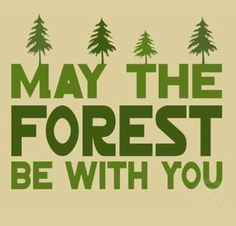 With you may the forest be.