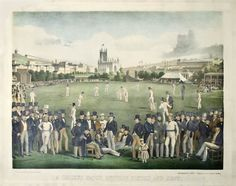 english dresses 1880 72 top cricket players and patrons are portrayed in this Victorian-era lithograph of A Cricket Match Between Sussex and Kent played in Brighton, England, on a English Dress, Pictorial Maps, Cricket Match, Green Lawn, Sports Art, Grand Tour, Antique Prints, Metropolitan Museum, 19th Century