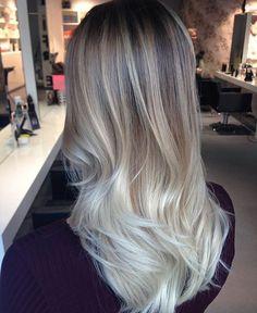 balayage, grey, grey hair, hair, First Set on Favim.com