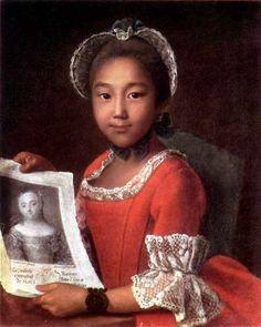 Portrait Of Kalmyk Girl Annushka Ivan Argunov 1727-1802