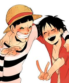 Luffy and Bon