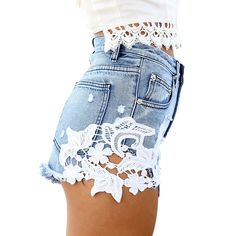 Find skull clothing and accessories for men and women ripped pocket hig... New items added daily http://rebelstreetclothing.com/products/ripped-pocket-high-waist-women-casual-shorts-sexy-lace-blue-denim-shorts-vintage-jeans-girl-hot-shorts-1