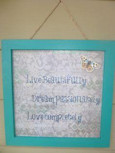 Inspirational Wall Decoration Live by StylishSignsByShonda on Etsy, $15.00