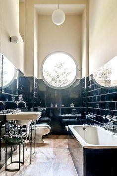 Villa Cecchi Bathroom, Piero Portaluppi