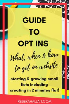 Guide to Opt-Ins. What, when & how to get on your website. Starting & growing your email lists including create an opt in in 2 minutes flat! Business Advice, Business Entrepreneur, Online Business, Business School, Cake Business, Email Marketing, Content Marketing, Affiliate Marketing, Email List