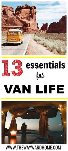 Thinking about living in a van? Here are 13 camper essentials you might consider for van dwelling. #vanlife #vandwelling #vanconversion #campervan via @thewaywardhome