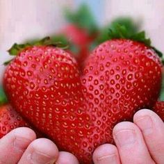 Put two strawberries together and it will make a heart...
