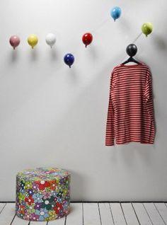 Appendiabiti a muro palloncino mini balloon creativando decorazione da parete attaccapanni