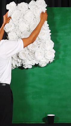 Wedding Hall Decorations, Romantic Wedding Decor, Diy Wedding Backdrop, Flower Wall Backdrop, Floral Backdrop, Girl Baby Shower Decorations, Diy Backdrop, Wall Backdrops, Backdrop Decorations