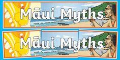 Display Banners, Maui, Legends, Illustration, Prints, Illustrations