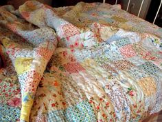 These kinds of quilts end up being the favorite go to blankets. Some day I'll have enough scraps to do this. (says the girl who never believed in saving scraps)