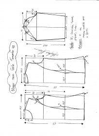Схема моделирования Блейзер без Воротника размер 48.