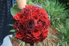 www.flowerhillflo... #fhflowers #bridalbqtred #blackmagicroses