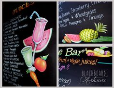 juice bar menu - Google Search