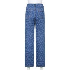 Stylish Argyle Straight Blue Y2K Jeans For Girls Female 2021Vintage Denim Pants For Women High Waisted Trouser Harajuku Capri Jeans  - AliExpress Skirt Pants, Denim Pants, Trousers, Streetwear Jeans, Skater Outfits, Pants For Women, Clothes For Women, Blue Denim, Blue Jeans