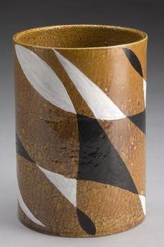 Per Olofsson; Glazed Stonevare Vase, 1950s.