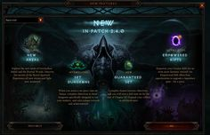 Diablo 3 Patch 2.4.0 Known Issues http://www.diabloii.net/blog/comments/diablo-3-patch-2-4-0-known-issues
